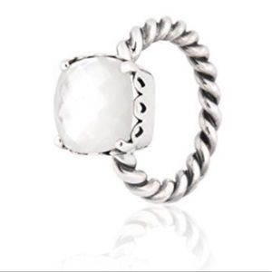 Mother of Pearl Discontinued Pandora Ring